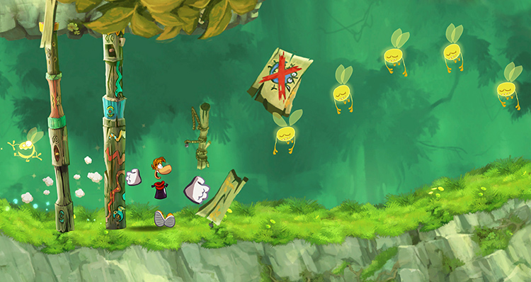 Геймплей Rayman Jungle Run