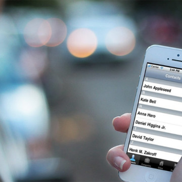 Список контактов на iPhone