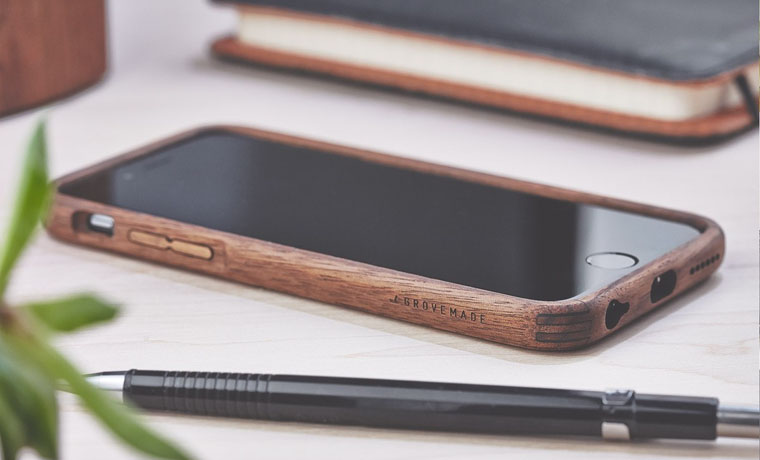 Grovemade Walnut & Leather iPhone Case фото