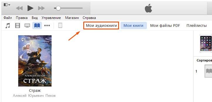 Каталог аудио в iTunes