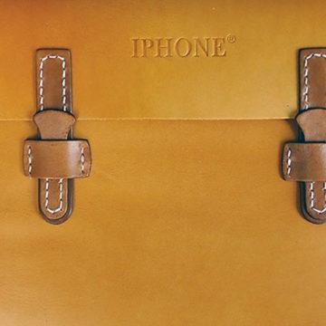 Кожаная сумка под брендом iPhone